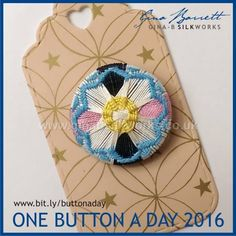 Day 132...... For those you just started in this group. Gina is presenting her handmade buttons daily on FACEBOOK.