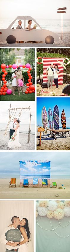 beach wedding photo booths Creative Beach Wedding Photo Booth Ideas