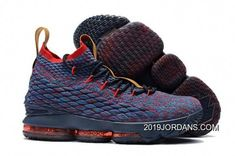 a7c43ce1551 Spring Summer 2018 Where To Buy 2018 Nike LeBron 15 Mens Basketball Shoes  Cavs Navy Multi Color
