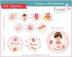 Kit Digital Toppers Fadas e Borboletas