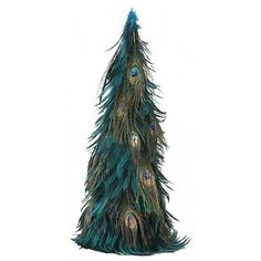 Hackle-Peacock Eye Feather Tree  Product SKU: TRHP24G--DKT-N-CPR Shop Feathers: www.featherplace.com