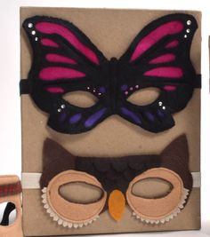 Butterfly  Owl Felt Mask PDF directions Free From Joann.com