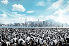 1600 Paper Mache Pandas Pop Up in Hong Kong to Raise Awareness...