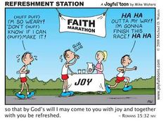 If you are becoming weary in your faith walk, perhaps it's time to draw on the strength and refreshing that comes from the joy of fellowship with your brothers and sisters in Christ. Christian Comics, Christian Cartoons, Christian Humor, Christian Life, Christian Quotes, Bible Humor, Bible Quotes, Bible Verses, Scriptures