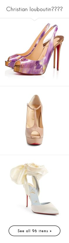 """""""Christian louboutin😘😍❤️"""" by doanthanhtra ❤ liked on Polyvore featuring shoes, christian louboutin, louboutin, calfskin shoes, calfskin leather shoes, calf leather shoes, patent leather shoes, pumps, heels and leather lined shoes"""