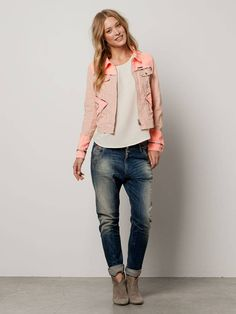 Fitted jacket with various washes and dessins - combo A - 2 - 3