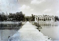 1908 Keszthely, Hajóállomás, Szállodák, fotó © Magyar Földrajzi Múzeum