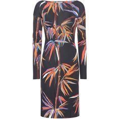 Emilio Pucci Printed Dress ($1,140) ❤ liked on Polyvore featuring dresses, emilio pucci dress and emilio pucci
