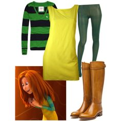 """""""Audrey- the Lorax inspired costume"""" by abigail-blaire-hogue on Polyvore"""