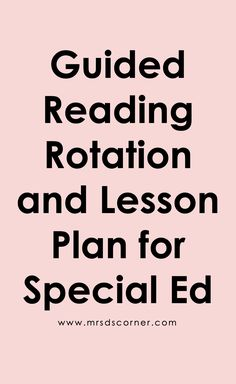 Tips for how to make guided reading work in special education, and ideas and lessons for guided reading centers for special ed classrooms. Guided Reading Lesson Plans, Teaching Reading, Reading Centers, Reading Workshop, Literacy Centers, Readers Workshop Kindergarten, Self Contained Classroom, Special Education Classroom, How To Plan