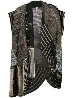 Antonio Marras пиджак без рукавов с вышивкой