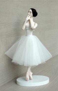 Bjd dolls, ballerina gift for dancer by DollsbyOlgaSanina Ballet Art, Ballet Class, Doll Wigs, Bjd Dolls, Dancing Dolls, Princess And The Pea, Ballerina Doll, Princess Outfits, Doll Stands