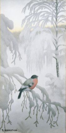 Maybe a different print for each season. Snow Pictures, Love Pictures, Most Popular Artists, Great Artists, Theodore Kittelsen, Illustrator, Nordic Vikings, Bullfinch, Winter Magic