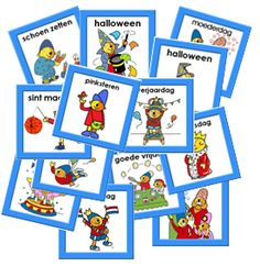 Kleuterjuf in een kleuterklas: Kalenderkaarten FEESTDAGEN Pompom | Methode SCHATKIST Homeschool, Classroom, Halloween, Fun, Kids, Baby, Pom Poms, Fin Fun, Toddlers
