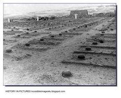 Despues de la Batalla. Ordenadas  tumbas de soldados alemanes. No fué lo habitual **