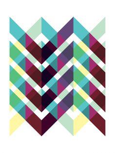 Zig Zag (2010) - Geometric Art by Gary Andrew Clarke