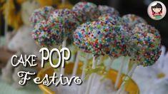 CAKE POP FESTIVO COM BOLO PULLMAN | BOLO NO PALITO | DIKA DA NAKA