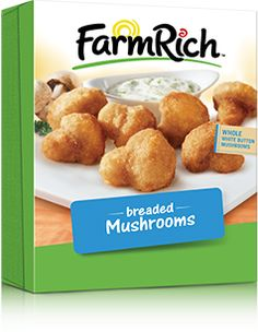 Who doesn't love a good breaded mushroom? Easy to cook, These are great for a quick snack everyone will love. #FarmRich #GotitFree
