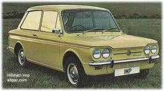 Hillman Imp, Sunbeam Imp, and related cars: a 60 mpg bubble car becomes a well-tuned little sedan Coventry, Vintage Models, Vintage Cars, Hillman Husky, Automobile, Smart Car, Commercial Vehicle, Retro Cars, My Dream Car