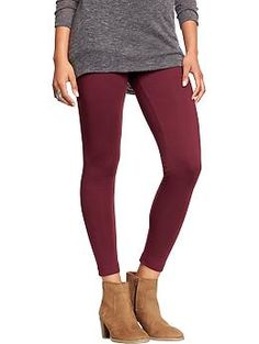 Womens Jersey Leggings $12.00 Go Pinot Go Color Size M