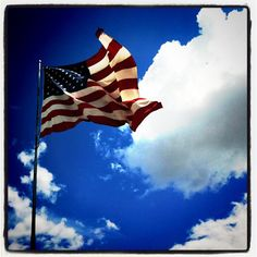 Gorgeous photo of the American flag, courtesy of The Pioneer Woman! I Love America, God Bless America, America America, American Pride, American Flag, Ten Year Anniversary, Star Spangled Banner, Military Love, Military Families