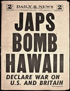 vintage everyday: 28 Newspaper Headlines From the Past That Document History's Most Important Moments World History, World War Ii, History Class, Pearl Harbor Attack, Newspaper Headlines, Headline News, Military History, Military Art, Iwo Jima