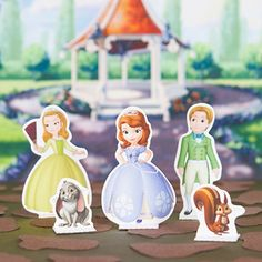 Sofia the First Playset - download for free and print/cut! Adorable.