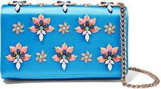 Emilio Pucci Embellished satin shoulder bag