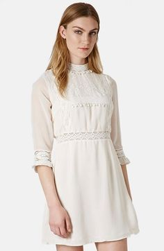 Topshop 'Victorina' Lace Detail Dress available at #Nordstrom