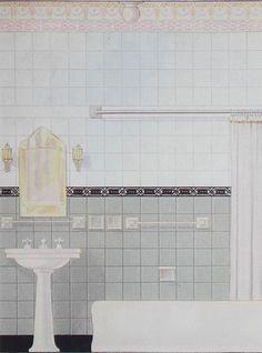 Vintage 1920s Bathroom Tile Design @ Studio, Garden ...
