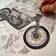 ART&DESIGN: Motorcycle Illustrations by Sophie Varela