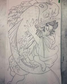 Image may contain: drawing Japan Tattoo Design, Japanese Tattoo Designs, Japanese Tattoo Art, Japanese Art, Frog Tattoos, Octopus Tattoos, Koi Fish Tattoo, Tribal Tattoos, Phoenix Artwork