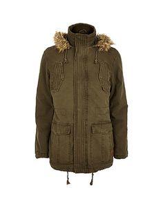 ASOS Fashion Finder   Khaki Tokyo Laundry parka jacket