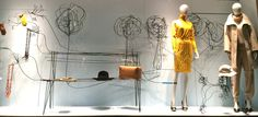 "HERMES,London,UK, ""Creativity with Wire"", photo by Mes Vitrines, pinned by Ton van der Veer"