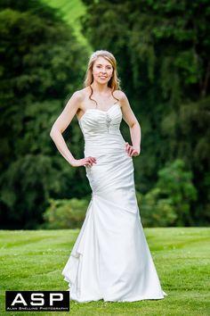 A Bride Portrait Taken On The Lawn During Wedding At Ballathie House