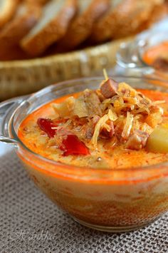 Hungarian Recipes, Hungarian Food, Chili, Food And Drink, Soup, Pudding, Favorite Recipes, Dinner, Fruit