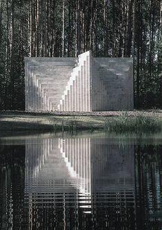Sol LeWitt: Double Negative Pyramid (1999). Europos Parkas Museum, Vilnius, #Lithuania.