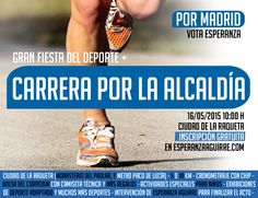 Las tendencias cambian y las campañas tienen que adaptarse. Carrera como parte de la campaña de Esperanza Aguirre.