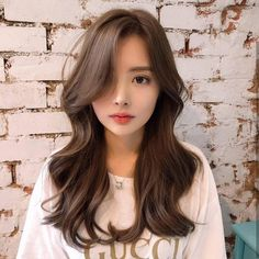On Trend: 6 Best Hair Colours For Different Asian Skin Tones In 2020 - Modern Hair Color For Asian Skin, Brown Hair Korean, Mint Hair Color, Honey Brown Hair Color, Cool Hair Color, Brown Hair Colors, Hair Colours, Asian Hair Dyed Brown, Curly Asian Hair