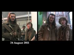 Bard and his growing son, Bain (from Peter Jackson production video #11)