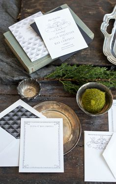 vintage inspired wedding invitations by hello tenfold   photo by lissa gotwals   styling by michelle smith