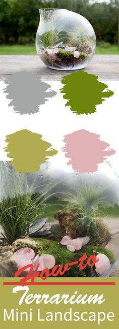 How to make a mini landscape terrarium [video] #terrarium  #ikebanabeautiful #flowerblog #floraldesign