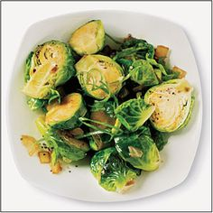 Sautéed Brussels Sprouts with Sesame, Garlic, and Ginger | MyRecipes.com