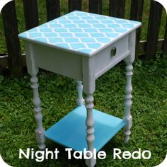 night table redo: we could do this with my tv stand @Tammy Tarng Tarng rice