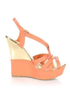 Coral + Gold Wedges