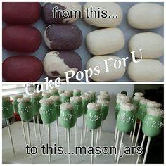 Cake pop mason jars
