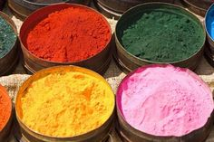 Canisters of natural dyes - Lew Robertson, Brand X Pictures/ Stockbyte/ Getty Images