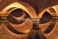 Stock Photo : Underground water filter as background