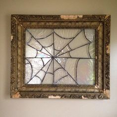 Stained Mosaic Gl Mirror Spider Web Wall Hanging Decor By Purevile