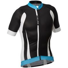 Maillot textil verano #ciclismo AEROFIT 9 NEGRO AZUL B'TWIN. http://www.decathlon.es/maillot-aerofit-9-negro-azul-id_8237976.html